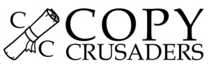 Copy Crusaders Content Marketing and Copywriting Service Logo Black